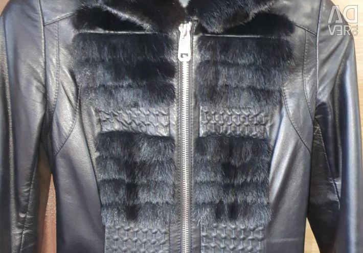 The jacket warmed natural with a mink