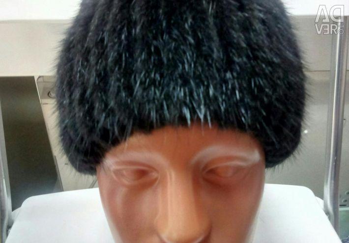 Pălărie de nurcă tricotată