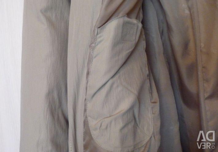 Пуховик длинный (130 см), р-48(46)