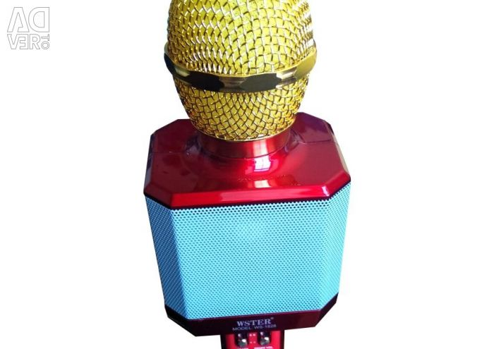 Karaoke microfon WS-1828 roșu metalic