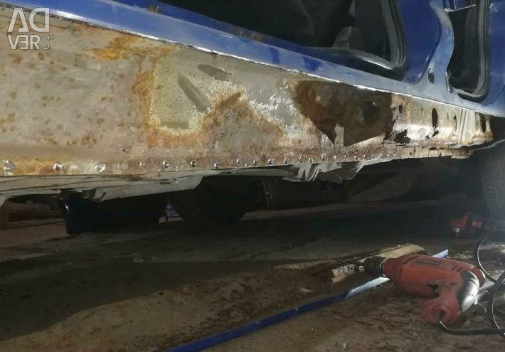 Straightening, welding, painting, body repair, service station
