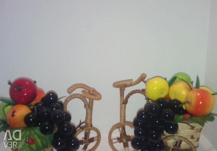 Handwork. Fruit bike.