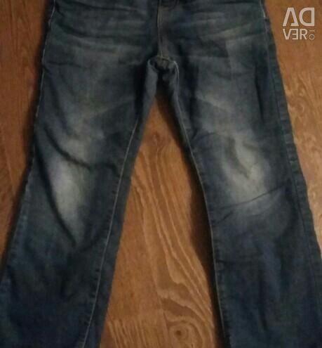 Jeans on fleece (height 128)