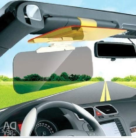 Visor with filter for day and night driving