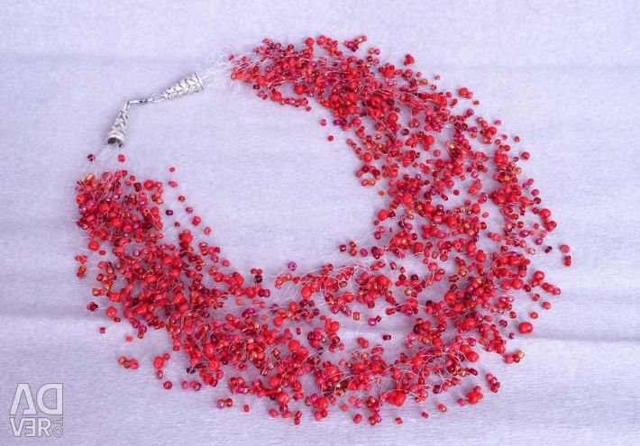 Red Garnet Bead Necklace