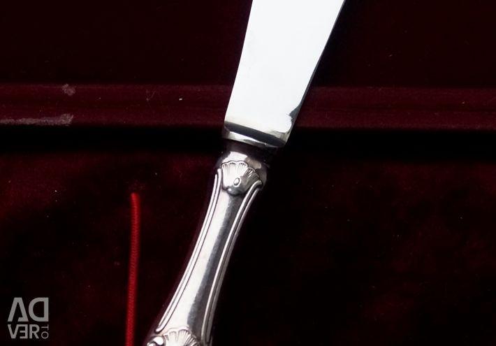 Cuțit cu unt de argint într-un caz Suedia 1964