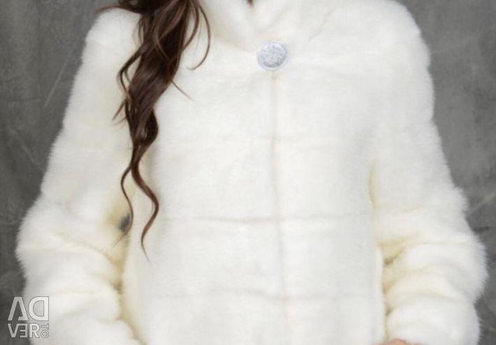 Mink white coat