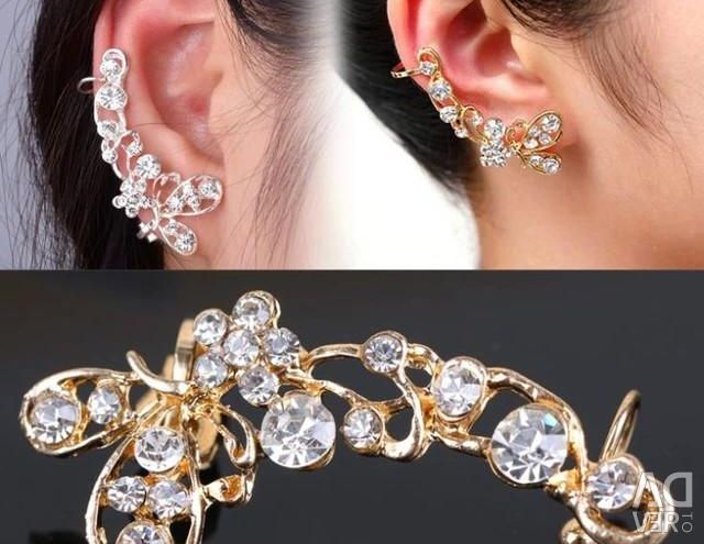 Earring in the ear gilding 18 to, stones of the Fionite
