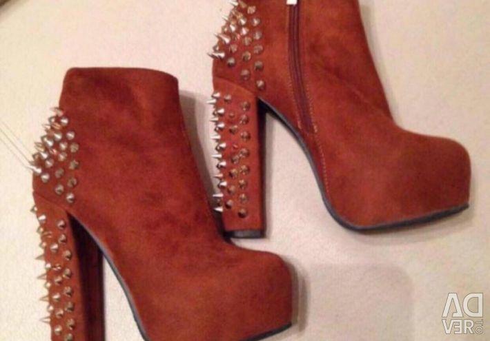 👢💃🏿Handed Ayak Bileği Çizmeler