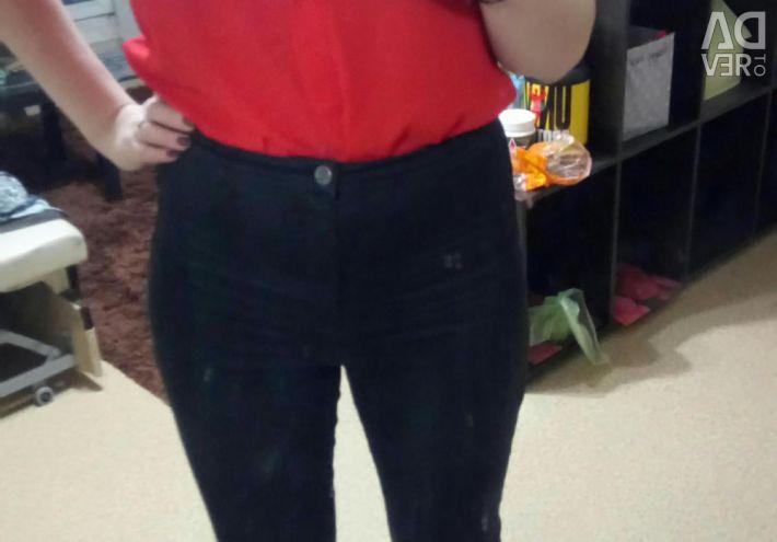Pantaloni cu talie mare