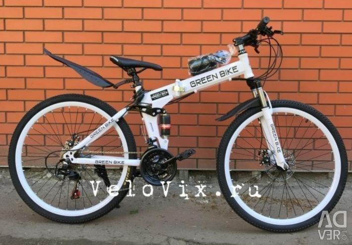 Bicicleta este nouă. Negru. alb.