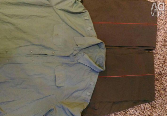 Askeri üniforma: 2. pantolon ve gömlek