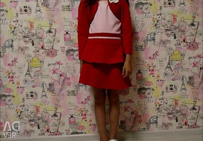 Платье детское+Пиджак 3-7 лет