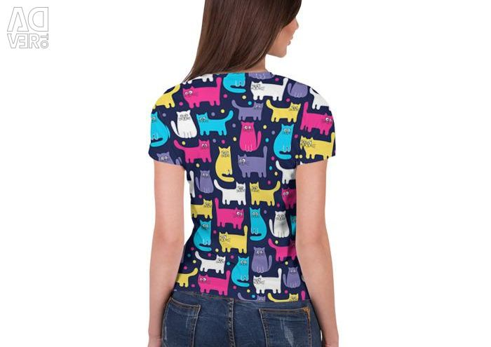 Women's 3D Kitty T-shirt (Art: 870586)