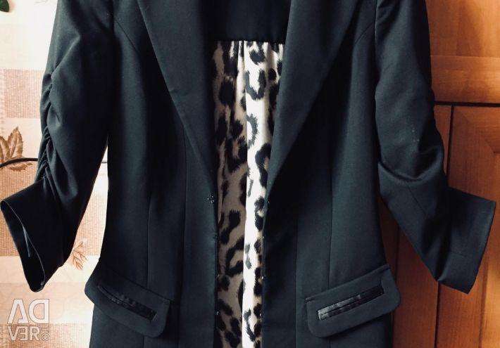 Пиджак жакет удлинeнный