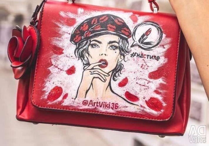 El yapımı kırmızı çanta