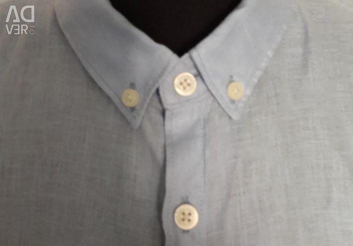 New men's linen shirt