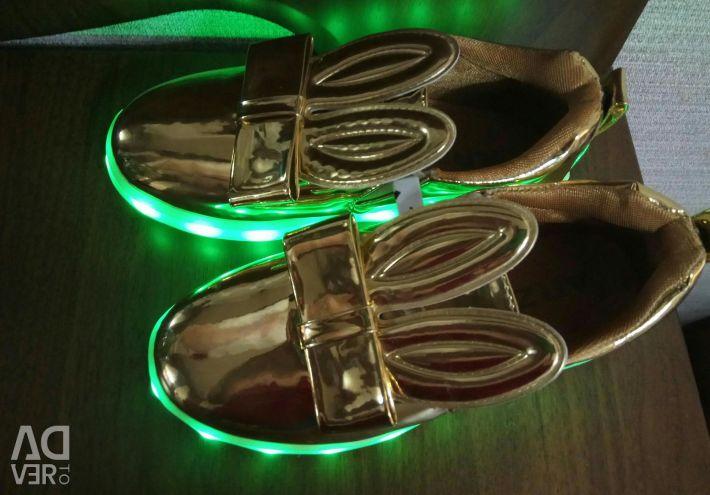 Led backlit sneakers