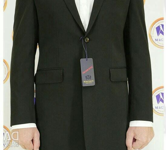 Men's black frock coat