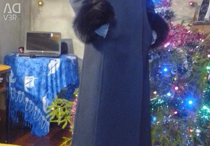 Winter coat with natural fur
