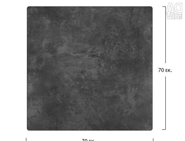 SURFACE TABLET COMPACT HPL 70X70 CEMENT HM516