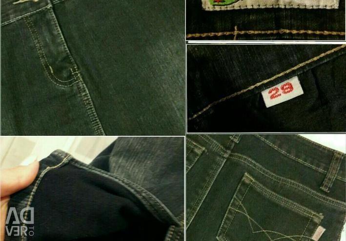 Спідниця джинсова, утеплена 44 р-р