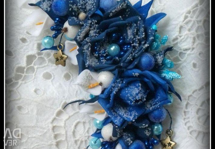 Brooch BLUE MONTH from Foamiran