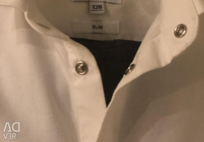 Shirt λευκό μέγεθος 128 για το αγόρι