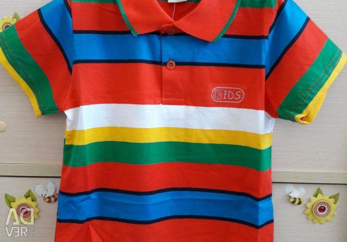 Polo t-shirts νέα 130cm