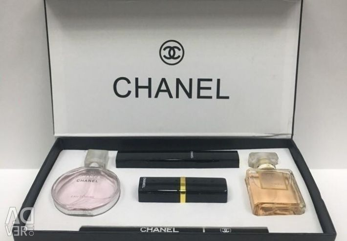 Gift set of men's and women's perfumes