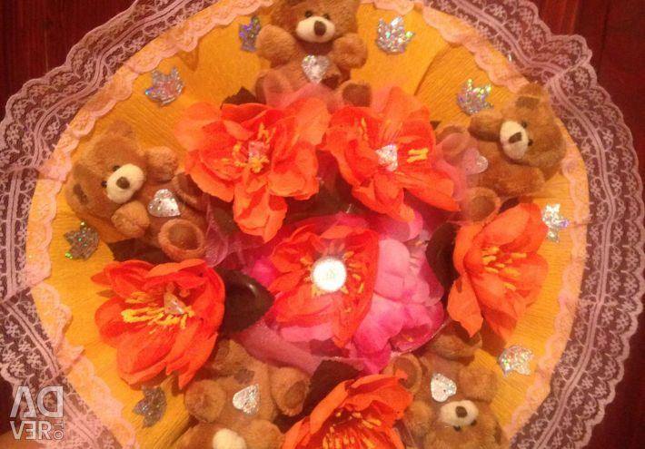 Bouquets from toys of bears