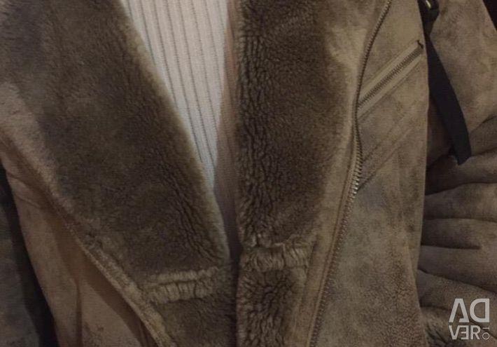 Men's sheepskin coat Eco fur.