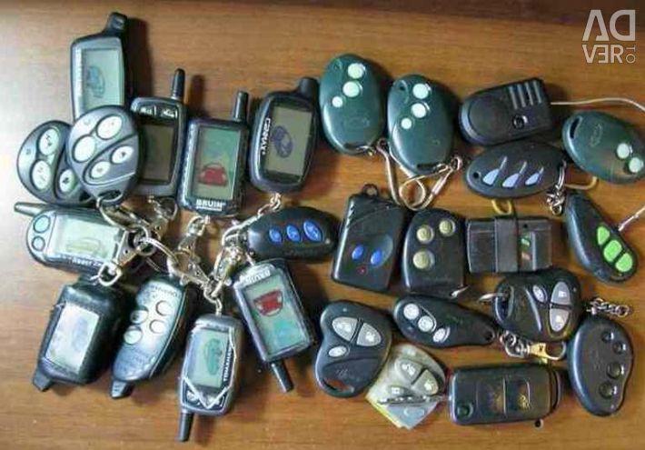 Araba alarmları için anahtarlık