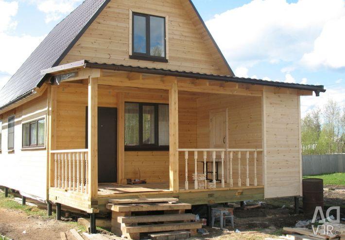 Veranda ve teraslı evlerin projeleri.