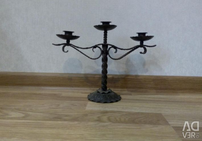 Forged candlestick