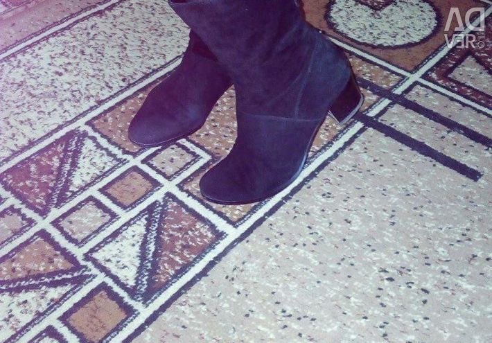 Genuine Suede Ankle Boots