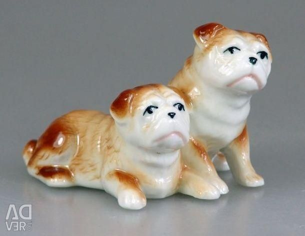 Figures in the collection. Dogs, china