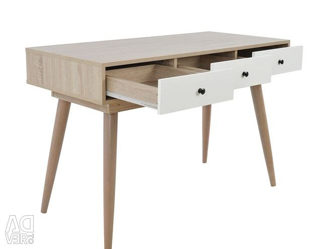 OFFICE-CONSOLE OLIVER HM2224 NATURAL-WHITE 120X55,