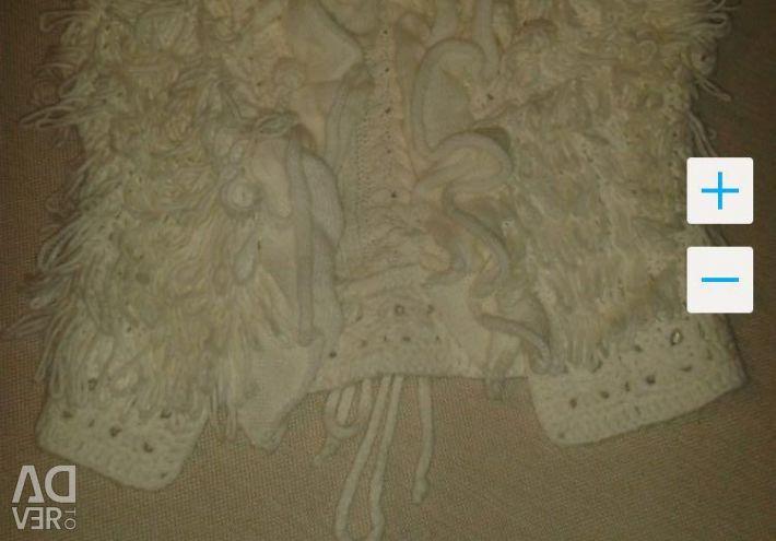 Vesta tricotată pentru fata SkyLake a râului 128-134,