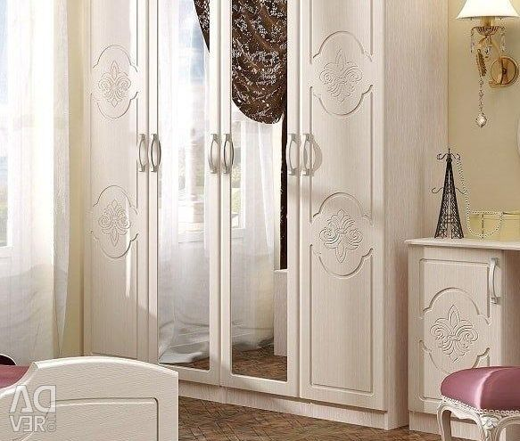 4-fold wardrobe