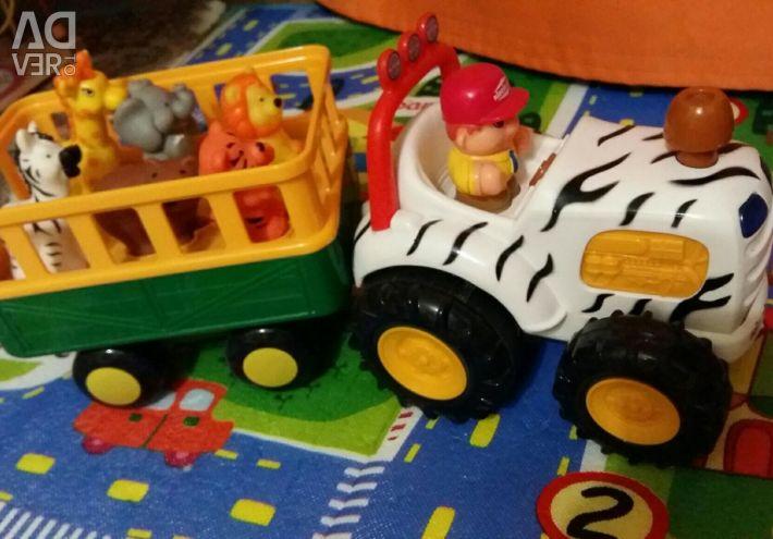 Трактор фермер ездиит гудит читает стихи