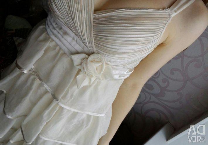 Dress and denim shirt
