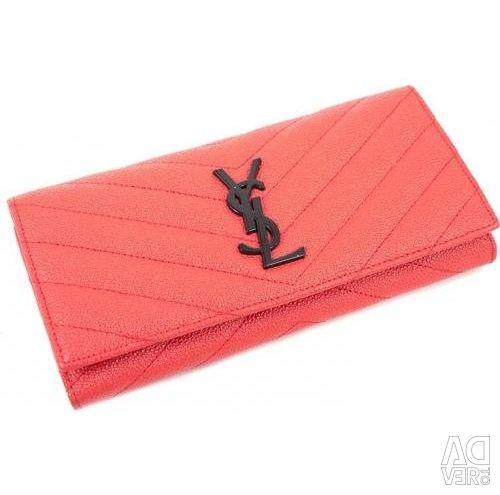 Women's long leather wallet