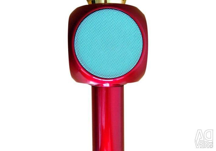Karaoke microphone WS-1816 (metallic red)