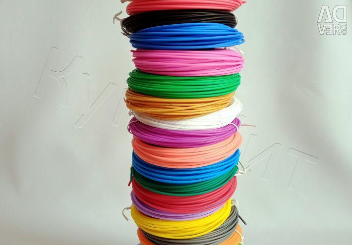 ABS PLA Plastic 1.75 Plume 3D 100/200 metri