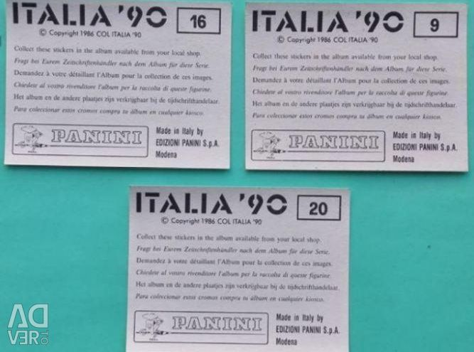 Panini Stickers World Championship 1990 Stadiums Futbo