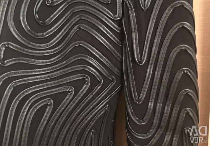 Пиджак с кожаными рисунками