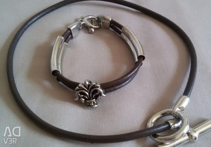 Bracelet necklace set