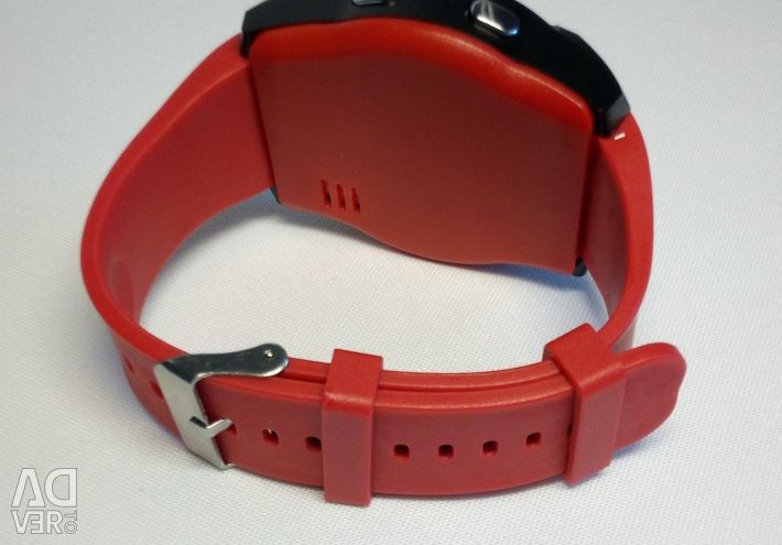 🔥 Akıllı izle V8 Kırmızı bt + Sim Darbeye Yeni
