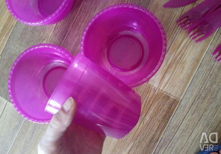 Set for a picnic plastic